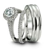 Platinum bridal jewelry