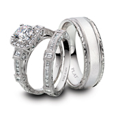 Platinum bridal jewelry