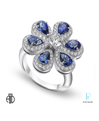 American Jewelry Designs, Inc. Platinum, Diamond and Sapphire Fashion Ring