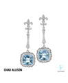 Chad Allison Platinum Diamond Topaz Earrings