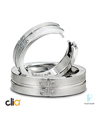 CliQ® Platinum Diamond Wedding Bands Featuring Superfit Technology™