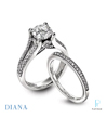 Diana Platinum Diamond Wedding Rings Set