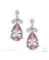 Fusaro Platinum Diamond Tourmaline Earrings