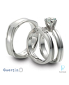 Guertin Brothers Platinum Diamond Wedding Rings Set