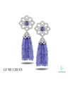 Gumuchian Platinum, Tanzanite, and Diamond Earrings