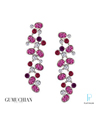 Gumuchian Platinum Diamond Ruby Earrings