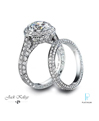 Jack Kelege Platinum Diamond Wedding Rings Set