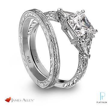 description jamesallencom platinum and diamond - Platinum Wedding Ring Sets