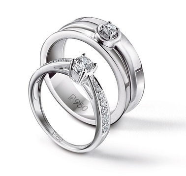 trellis stone ring engagement petite in diamond three platinum p rings