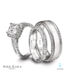 Kirk Kara Platinum Diamond Wedding Rings Set