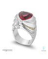 Mark Schneider Design Platinum, Tourmaline and Diamond Men's Fashion Ring