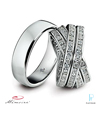 Memoire Platinum Diamond Wedding Bands