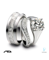 Michael Bondanza Platinum Diamond Wedding Rings Set