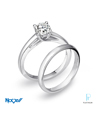Novell Design Studio Platinum and Diamond Wedding Rings Set