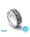 Novell Design Studio Platinum and Diamond Wedding Band