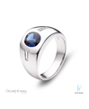 Oscar Heyman Platinum, Sapphire, and Diamond Men's Ring