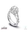 Parade Design Platinum and Diamond Engagement Ring
