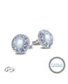Pioneer Gems Platinum, Sapphire, and Diamond Cufflinks