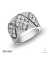 Simon G. Platinum and Diamond Fashion Ring