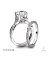 Tacori Platinum Diamond Wedding Rings Set