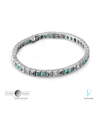 Timeless Designs Platinum, Diamond, Emerald and Sapphire Bracelet