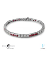 Timeless Designs Platinum,Diamond and Ruby Bracelet