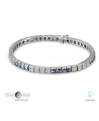 Timeless Designs Platinum, Diamond and Sapphire Bracelet