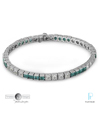 Timeless Designs Platinum, Diamond and Emerald Bracelet