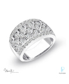 Uneek Fine Jewelry Platinum and Diamond Fashion Ring