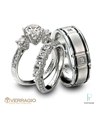 Verragio Platinum Diamond Wedding Rings Set