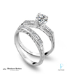 Whitehouse Brothers Platinum and Diamond Wedding Rings Set
